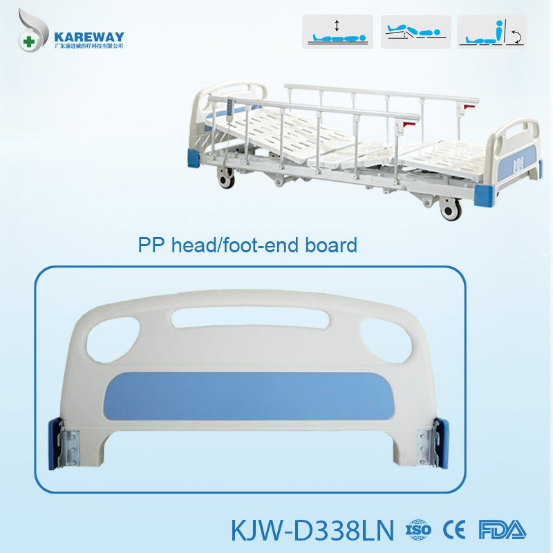 abs head board electric adjustable 3 function super low hospital bed