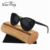 funny custom printing logo uv400 polarized skateboard wood cateye female sunglasses