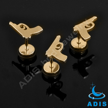 Anodized gold gun fake ear plugs