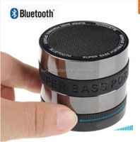 Superbass Metal Mini Speaker Bluetooth with Strong Vibration TF Card FM Radio