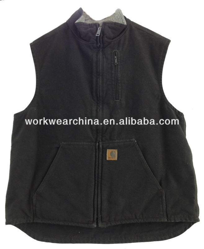 Sandstone rugged canvas work vest