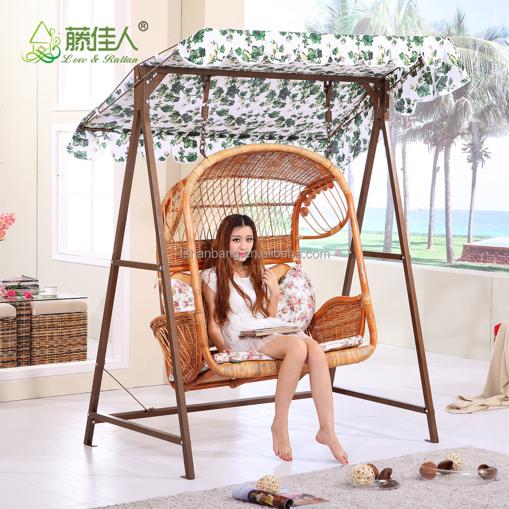 Chair swing chair outdoor patio - Outdoor Garden Patio Green Stand Line Fabric 3 Seats Swing Chair And Umbrella