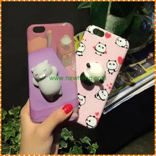 unique lovely Cartoon Silicone Squishy 3D Cats Phone Cases For iPhone 7 Plus