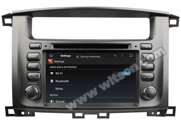 WITSON Android 4.4 DOUBLE DIN CAR DVD GPS FOR TOYOTA LAND CRUISER 100 1G DDR3 RAM 1080P HD VIDEO