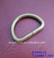 "2017 hot selling bag oval metal ring / steel(iron) ""O"" bag ring for shoe jeans garment"
