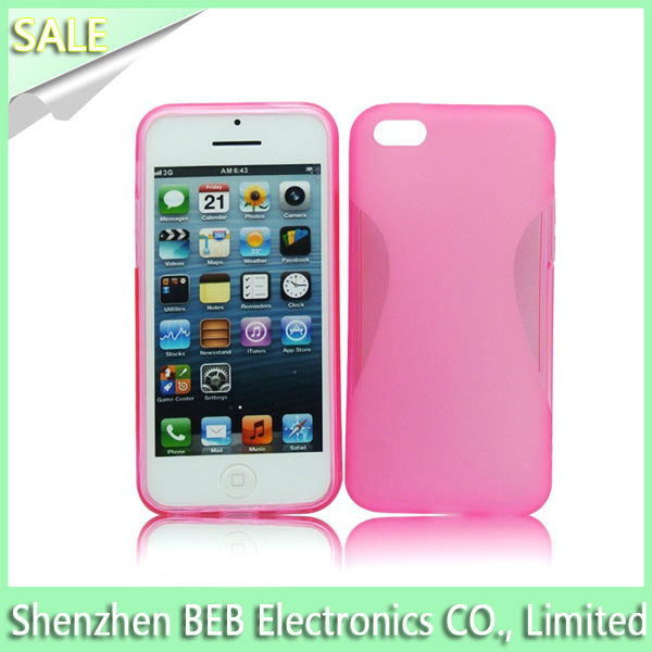 Wholesale transparent tpu case for iphone5c from verified supplier