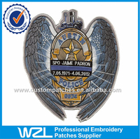 Custom embroidery eagle patches, motorcycle patch, biker patches for jacket