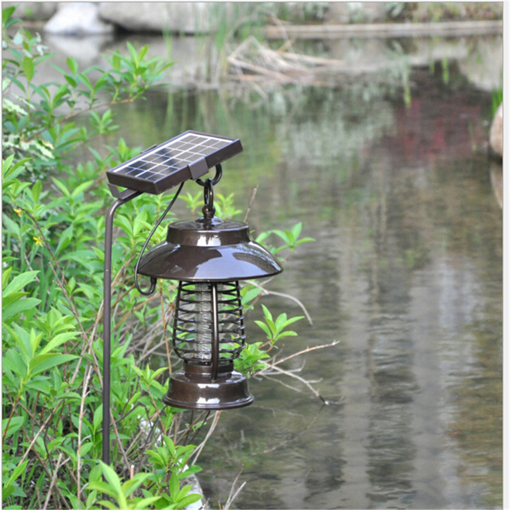 Plastic made in China solar insect light trap kill mosquito solar lantern outdoor mosquito repellent