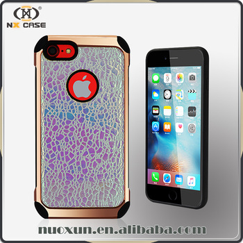 Latest rainbow glitter bumper phone case for iphone 7plus, case for iphone 7 plus case