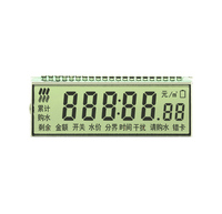 Monochrome custom segment lcd display for energy meter