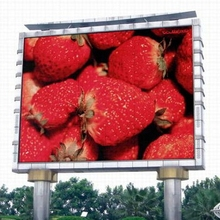 Outdoor super bright p10 fixed panel waterproof iron cabinet led display sign board screen with high bright