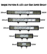 LiteWay 23 inch 320w Off Road 4wd Work Driving Led 4X4 Light Bar