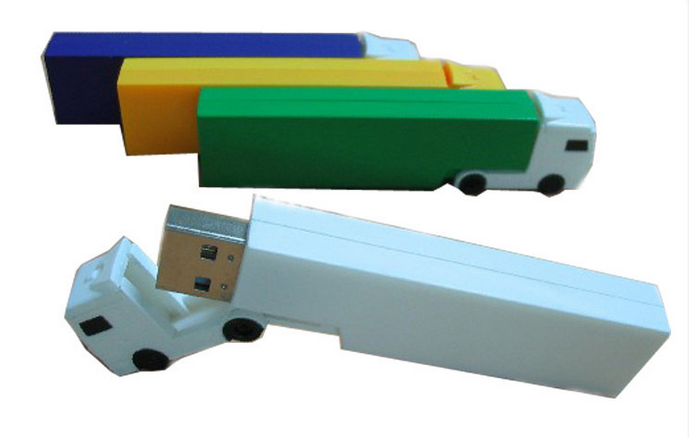 Plastic truck usb sticks 8 gb