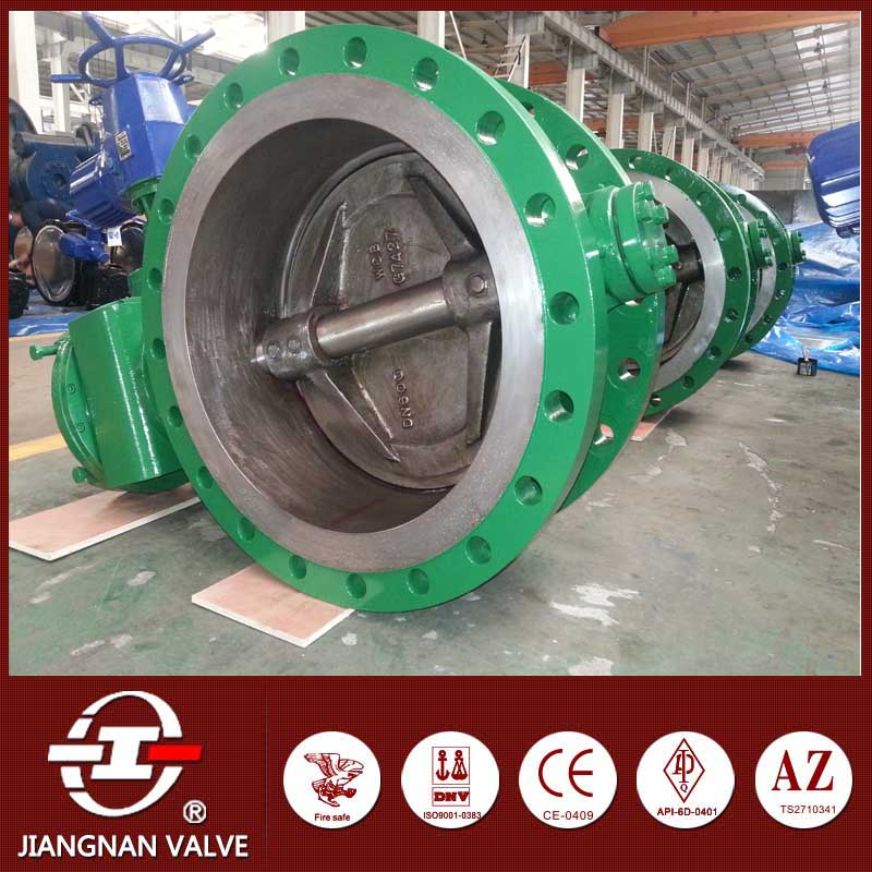 electric double flange worm gear actuated butterfly valve small