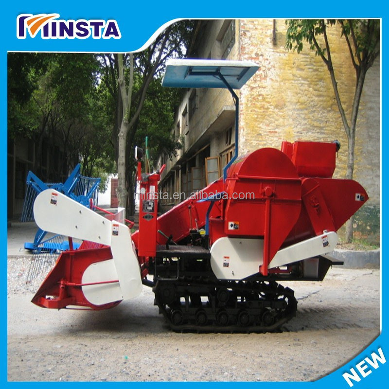 Small Size Wheat and Rice Combine Harvester