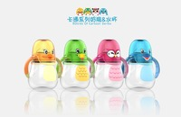 Cute clear plastic custom shaker baby bottle wholesale in china