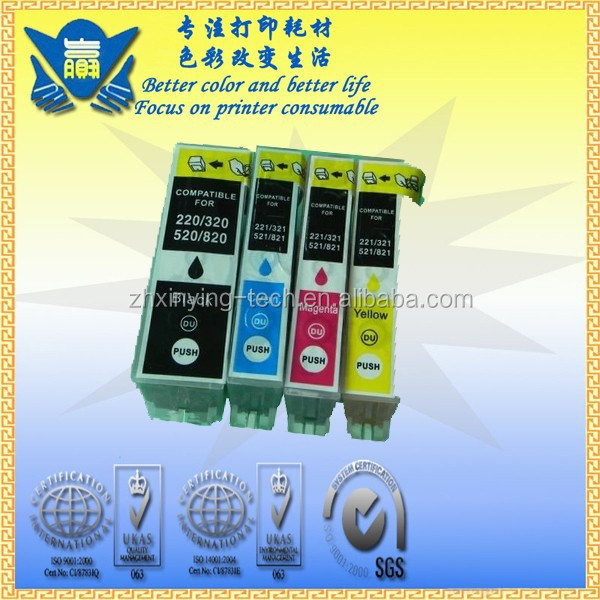 Print cartridge, Compatible Color Ink Cartridge for Canon pgi-820 cli-821, use for Canon PIXMA MP638/628/545/988/638/558/568648/