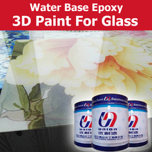 Transparent water based glass paint for cabinet