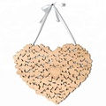 Hanging 3D Ornaments Custom Heart Shaped Wedding Guest Book hearts wedding Decorations For wedding