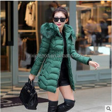Cheap Cotton Down Jcket Warm Winter Coat With Fur Hood