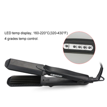 1.5inch Plate 4 in 1 Fast Hair Straightener Corn Wave Plate Hair Crimper Waver Corrugated Flat Iron