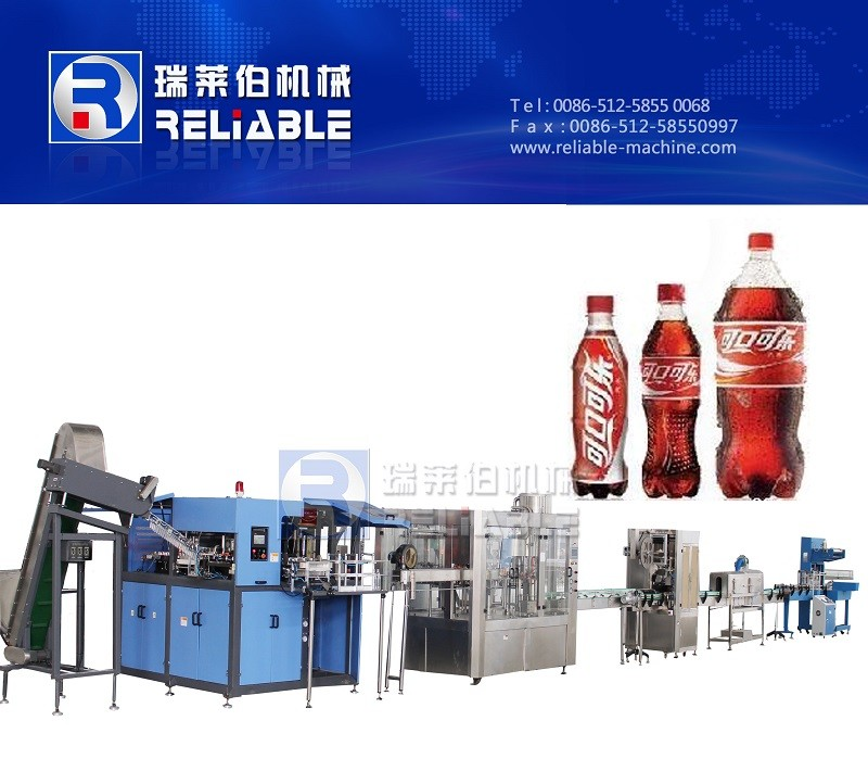 Refreshing Automatic Bottle Soft Drink Filling Line