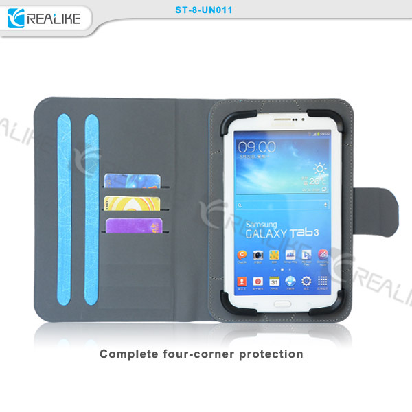 "7"" inch stand tablet case with three card slots OEM tablet case"