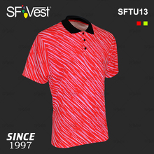 100% Cotton Fluorescent Red Breathable Quick Dry T-shirt Hi Vis Shirt Workwear Polo Shirt