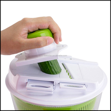 4 in 1 Salad Spinner Mandoline Slicer manual kitchen plastic vegetables and fruits cutter chopper shredder