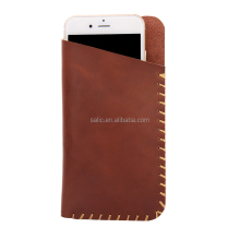Cheapest Hot Selling leather phone pouch with stylish stiching for iPhone 7 China supplier