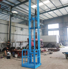 warehouse cargo vertical lifts/ guide rail used goods elevators for sale