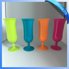 Assorted Neon Colorful Hurricane Cups, Tropical Plastic Hurricane Drink Glass