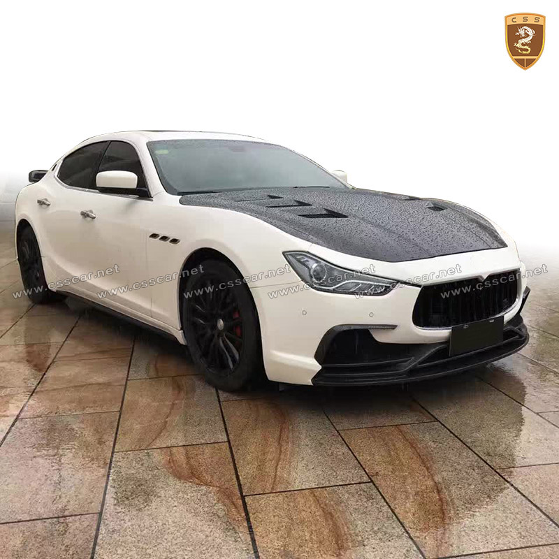Hot sale CSS design body kit for maserati ghibli in cf+frp