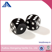 Acrylic or Resin Black Opaque Dice with White Spots