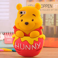 cartoon character custom design 3d shaped waterproof animal silicone phone case