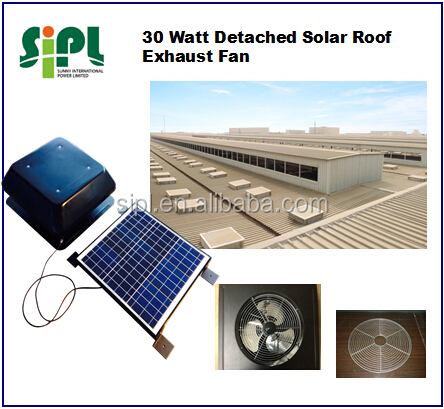 New Technology Energy Saving Home Appliance Solar Powered Roof Air Cooler Fan