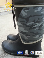 cheap waterproof rubber camo rain boot for men