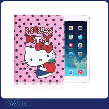 Fancy hello kitty cartoon tablet smart cover case for iPad air /234/mini