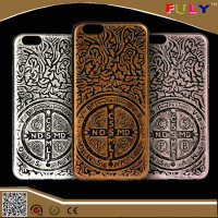 Drop shipping Retro Phone Case Jesus Christ Cross Relief Painting Cover for iphone 6s 6s Plus