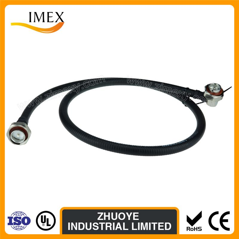 Free Sample Factory Price rf feeder jumper cable 1/2 jumper cable with sam male connector to n male connector