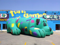 promotional inflatable dog cartoon/ advertising inflatable dog model