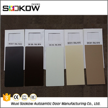 Colourful steel decorative motorized residential fold up garage door