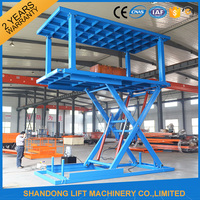 cheap hydraulic scissor double heavy duty car parking lift