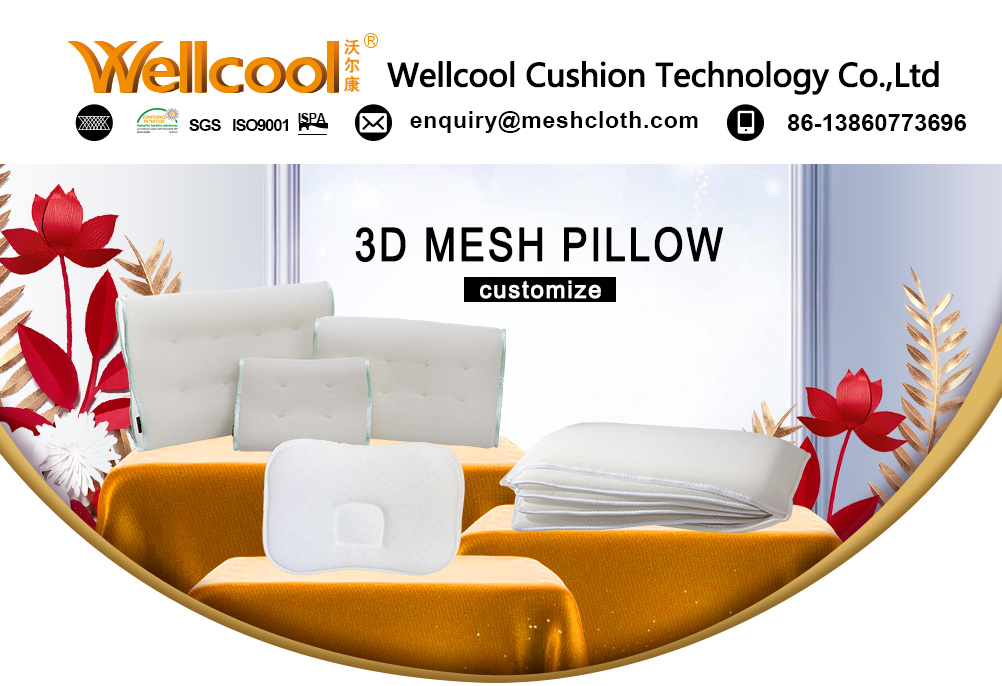 warp knitted 3d spacer  washable cooling custom shape pillow