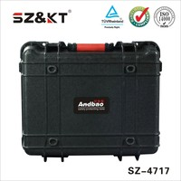 OEM waterproof rugged plastic tool case with custom EVA foam