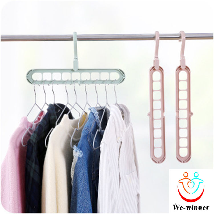 Economic colorful plastic hanging drying hanger clothes rack hook for house