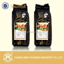 OEM service plastic flexible coffee packaging bag pouch/Kopi packaging pouch bag