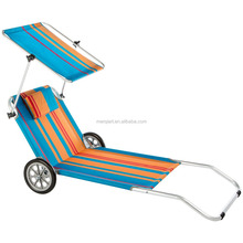 Factory sell folding foldable beach chair with wheels