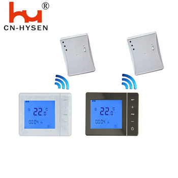 Large Touch Screen LCD RF Wireless Programmable Floor Heating Thermostat