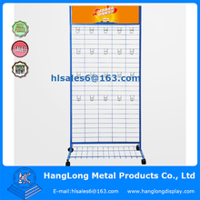 free standing wire mesh display racks and stands